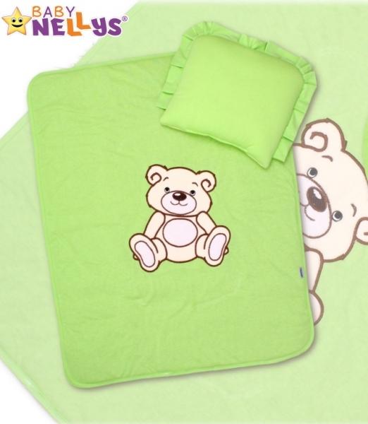 Sada do kočíka jersey Medvedík Teddy Baby Nellys - zelená