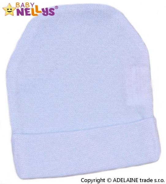 Baby Nellys Novorodenecká čiapočka - sv. modrá