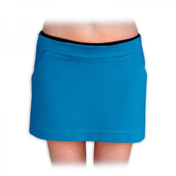 Tehotenské sukne nielen pre tehotné denim  - petrolejová