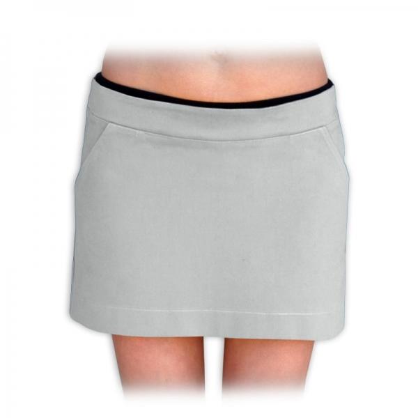 Tehotenské sukne nielen pre tehotné denim  - šedá