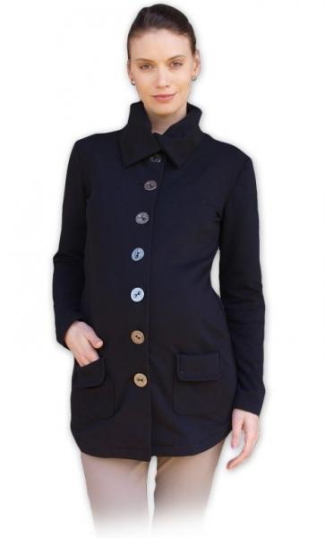 Tehotenský kabátik/sako čierny