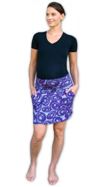34c588b08bc6 JOŽÁNEK Letná tehotenská sukňa s vreckami - vzor č. 01 - M L