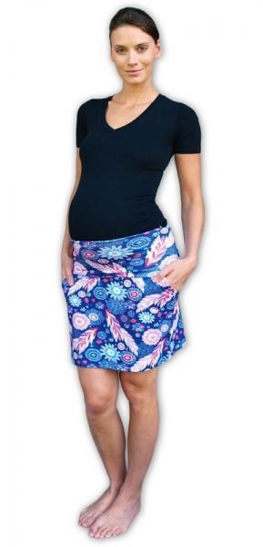 Tehotenská sukňa vzor č. 02 letná s vreckami