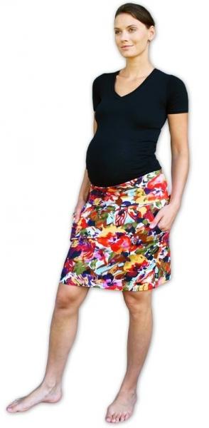 Tehotenská sukňa vzor č. 03 letná s vreckami