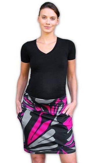 Letná tehotenská sukňa s vreckami - vzor č. 04
