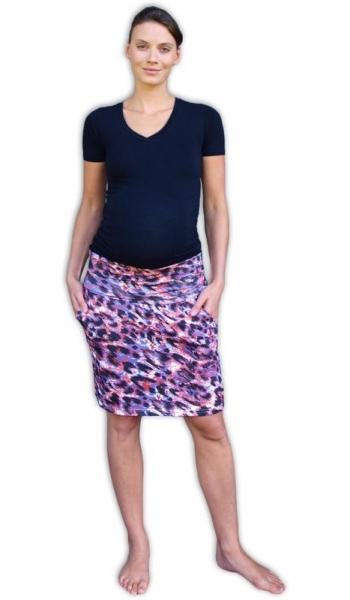JOŽÁNEK Letná tehotenská sukňa s vreckami - vzor č. 05 - L/XL-L/XL