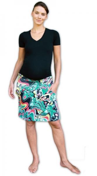 Tehotenská sukňa vzor č. 06 letná s vreckami