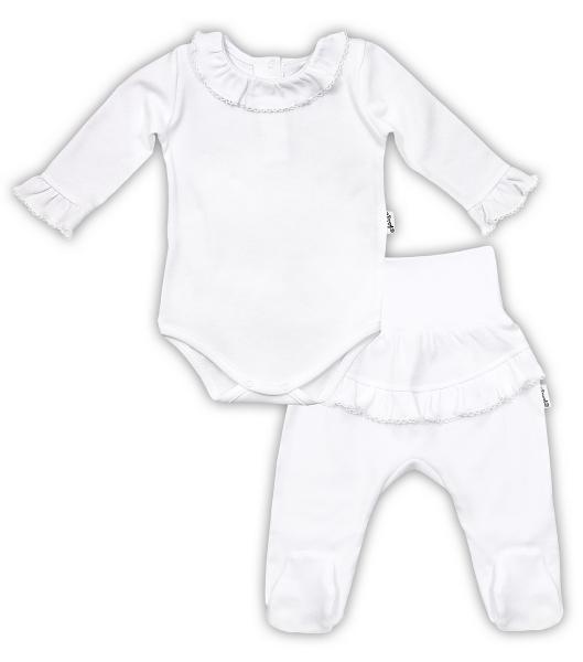 Súpravička NICOL ELEGANT BABY GIRL- body dl. rukáv a polodupačky, vel. 74, biel