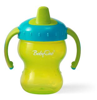 Náučný hrnček Baby Ono, 6m + - zelený / tyrkysový
