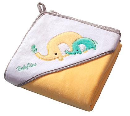 Luxusné osuška Baby Ono - VELUR s kapucňou