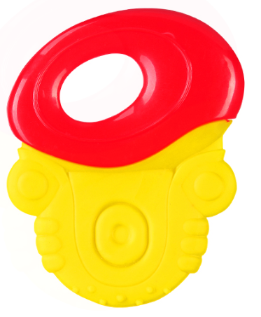 Hrkálka, hryzátko Baby Ono - úchyt červený