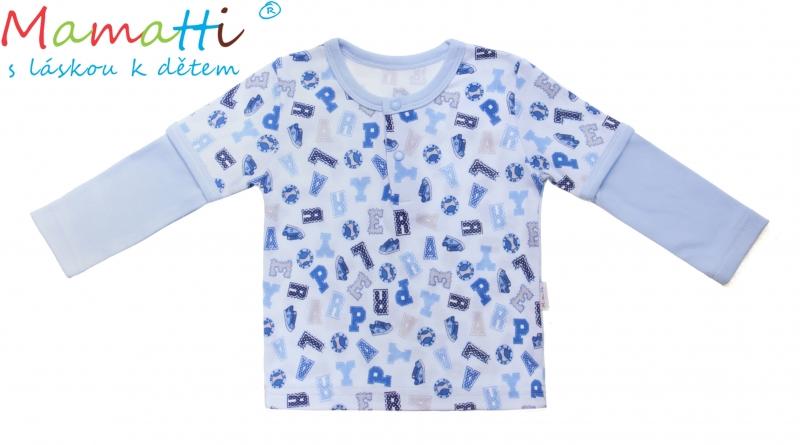 Bavlnené tričko / polo Mamatti - FUTBAL, veľ. 80