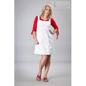 Tehotenské šaty denim na traky - biele