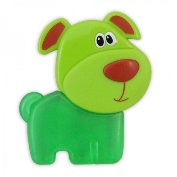 BABY MIX Hryzátko gélové - Psík zelený