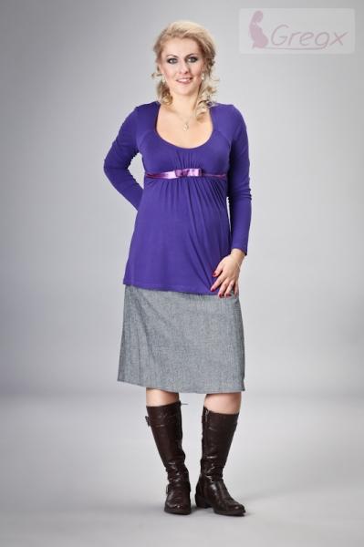 Gregx Tehotenská sukňa ELVIA - šedá s odtieňom strieb. nitky