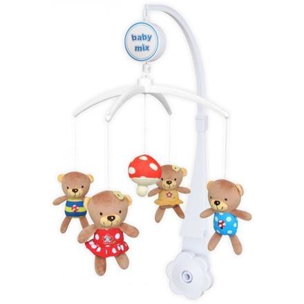 Kolotoč nad postieľku BABY MIX - Medvedík a muchotrávka
