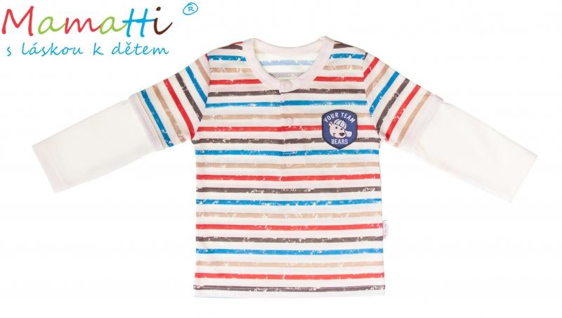 Bavlnené tričko / polo Mamatti - PEJSEK, veľ. 74