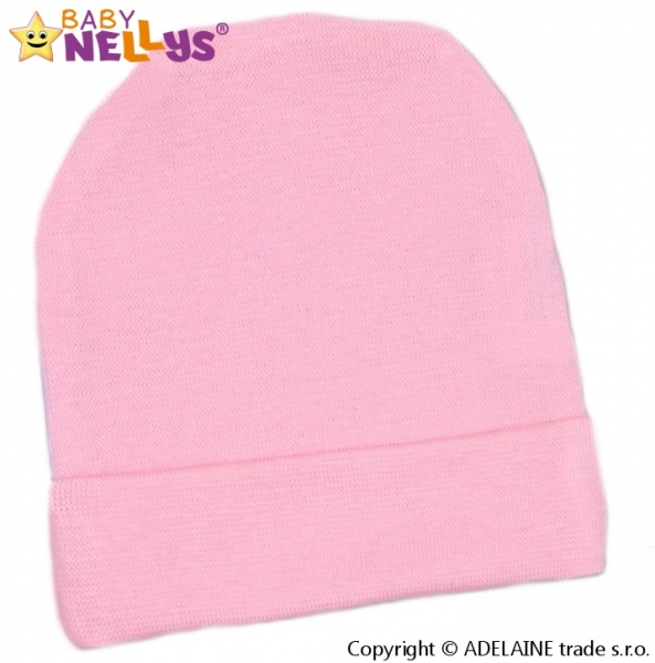 Baby Nellys Novorodenecká čiapočka - sv. ružová