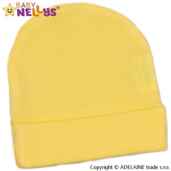 Novorodenecká čiapočka - krémová