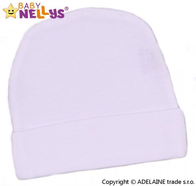 Baby Nellys Novorodenecká čiapočka - biela