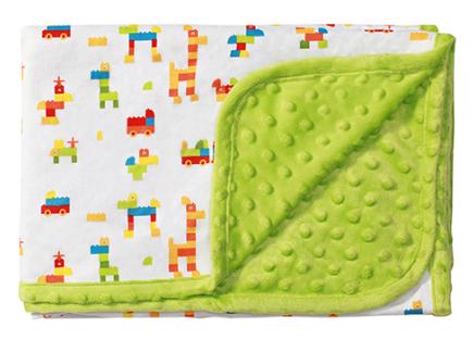 Luxusné obojstranná dečka Baby Ono - Mink zelená