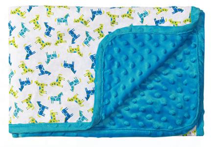 Luxusné obojstranná dečka Baby Ono - Mink modrá