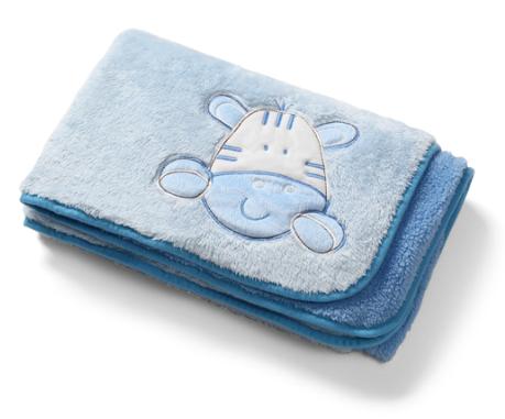Obojstranná dečka z mikrovlákna Baby Ono - modrá