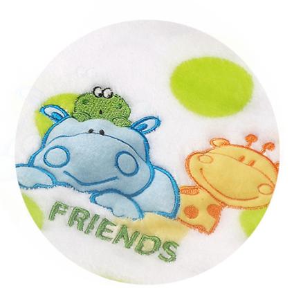 Veselá dečka z mikrovlákna Baby Ono - s pískátkem - KAMARÁTI