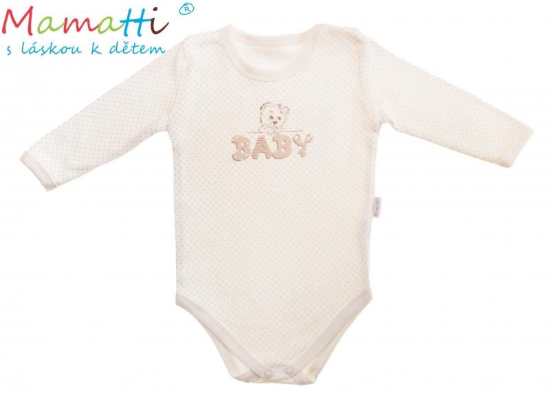 Body dl. rukáv Mamatti - BABY