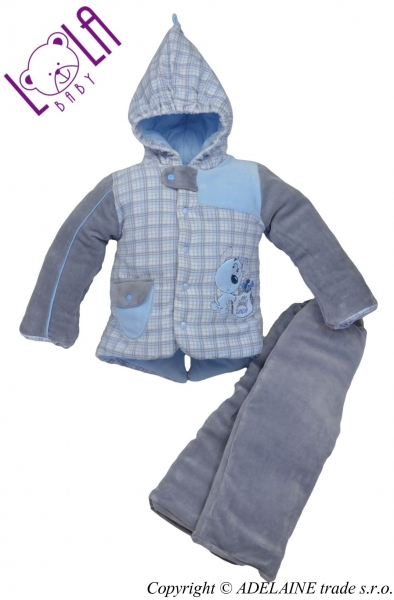 LOLA BABY Oteplenie komplet - bundička a nohavice DOGI