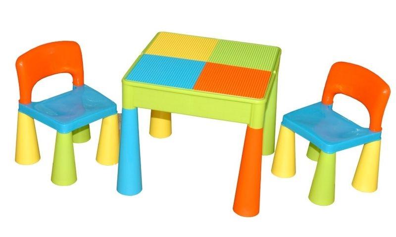 TEGA Sada nábytku pre deti - stolček a 2 stoličky - farebné