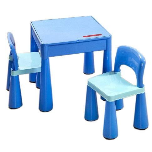 TEGA Sada nábytku pre deti - stolček a 2 stoličky - modrá
