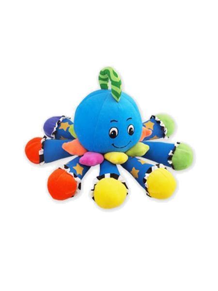 Plyšová hračka BABY MIX s hrkálkou - Chobotnička