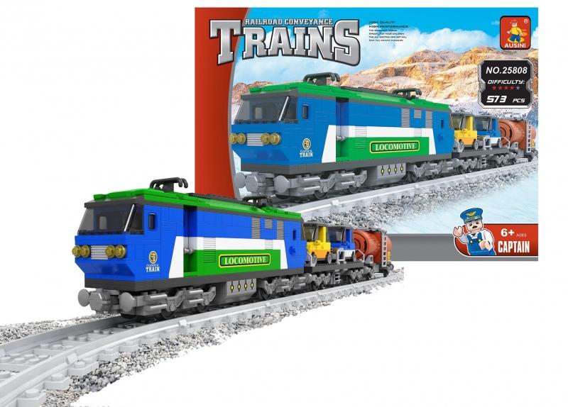Stavebnica Ausin vlak nákladné 573 dielov