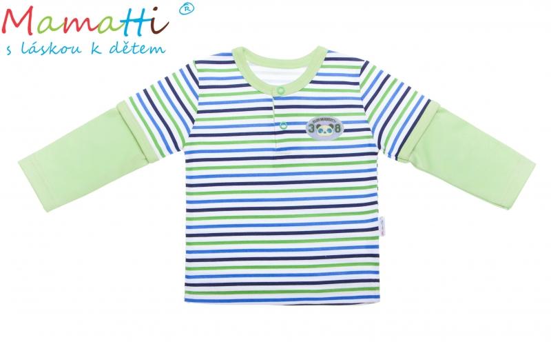 Bavlnené tričko / polo Mamatti - ŽELVA, veľ. 74