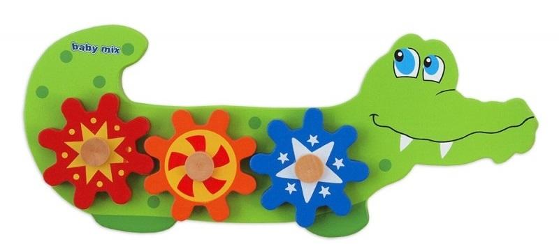 Vkladačka drevená Baby Mix - Krokodíl