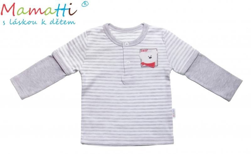 Bavlnené tričko / polo Mamatti - LEMUR, veľ. 68