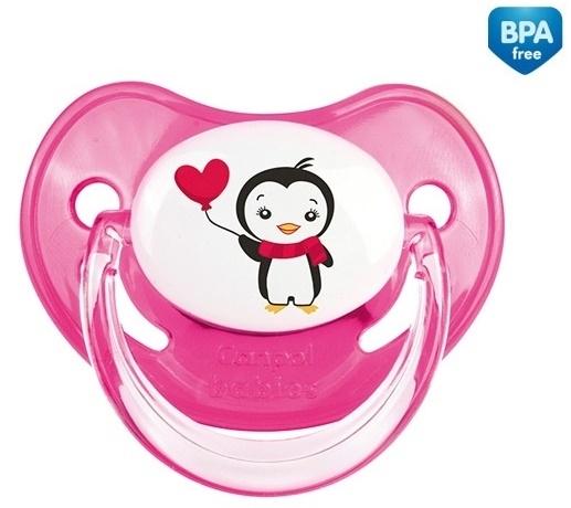 Cumlík Canpol Babies 0-6m - Tučniak ružový