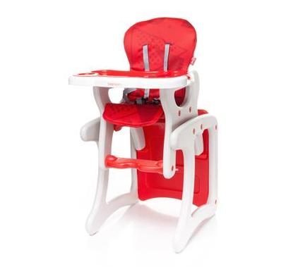 Jedálenský stolček 4 BABY FASHION - červený