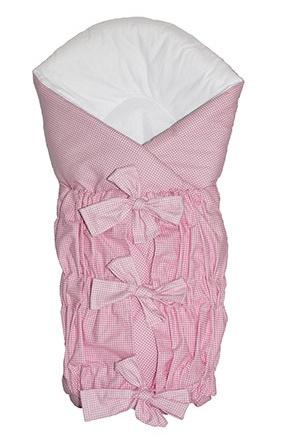 Zavinovačka SAFETY - ružový - jemná kostička