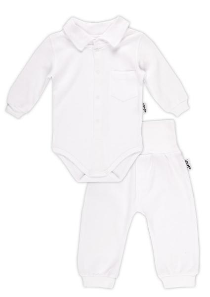 Súpravička NICOL ELEGANT BABY BOY - body polo dl. rukáv a polodupačky-56 (1-2m)