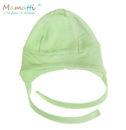 Čiapočka na zaväzovanie Mamatti - zelená