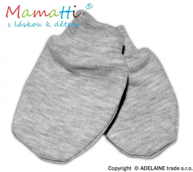 Dojčenské rukavičky - sivý melír