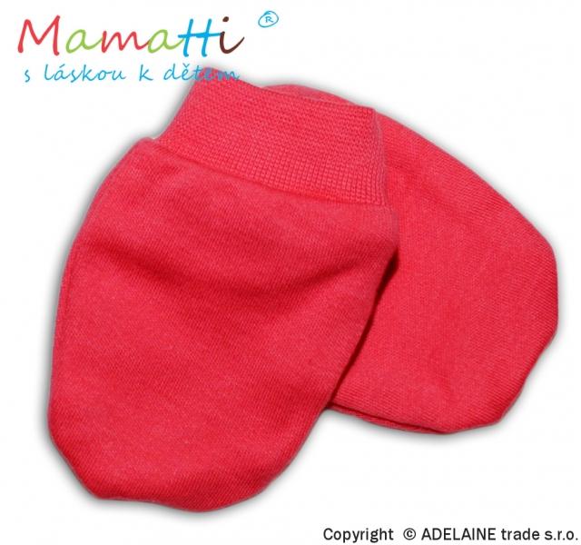 Dojčenské rukavičky - koral
