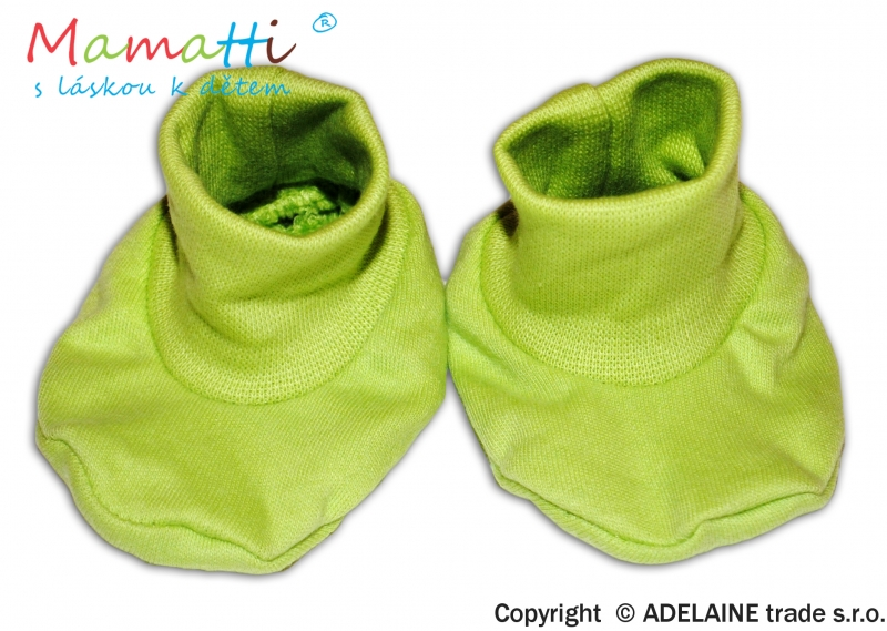 Topánočky / ponožtičky BAVLNA Mamatti - zelené