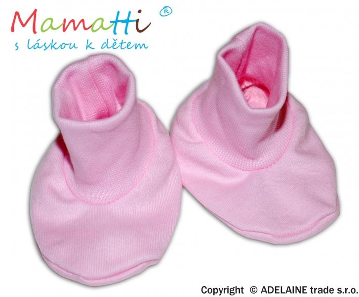 Topánočky / ponožtičky BAVLNA Mamatti - ružové