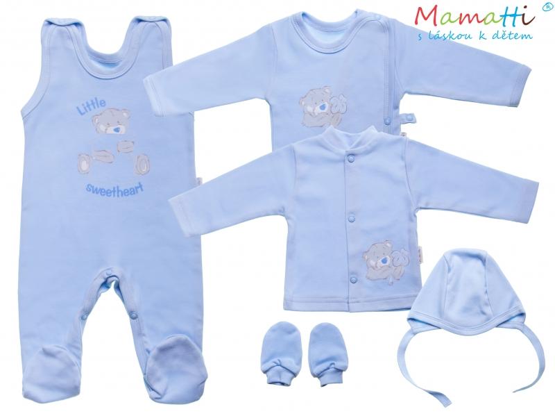 Súprava do pôrodnice v krabičke Mamatti - LITTLE SWEET HEART, modrá