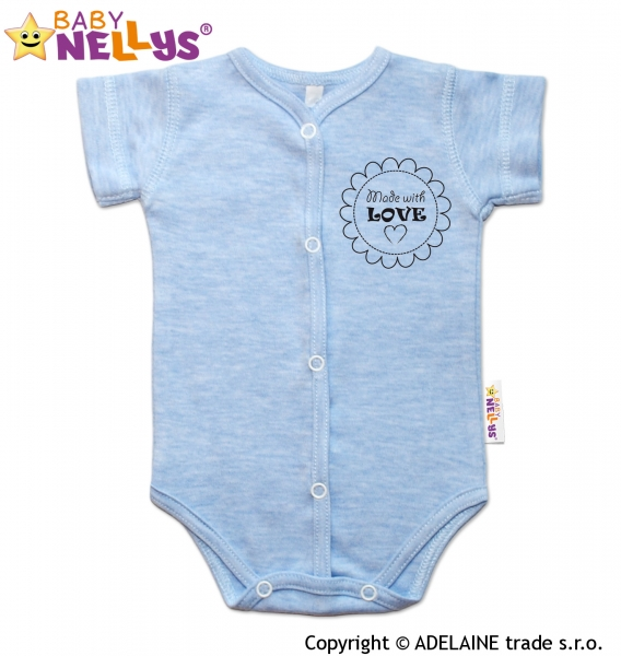 7eef40f5c Kojenecké oblečení | Body krátky rukáv Baby Nellys® sv. modré ...
