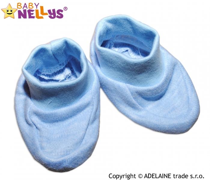 Topánočky / ponožtičky Baby Nellys ® - sv. modré (melírek)