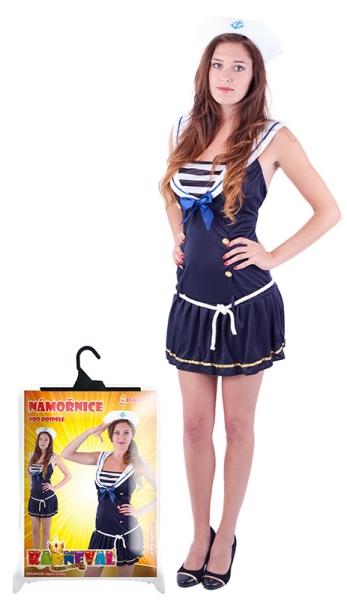Rappa Karnevalový kostým slečna námorníčka, dospelá, veľ. M